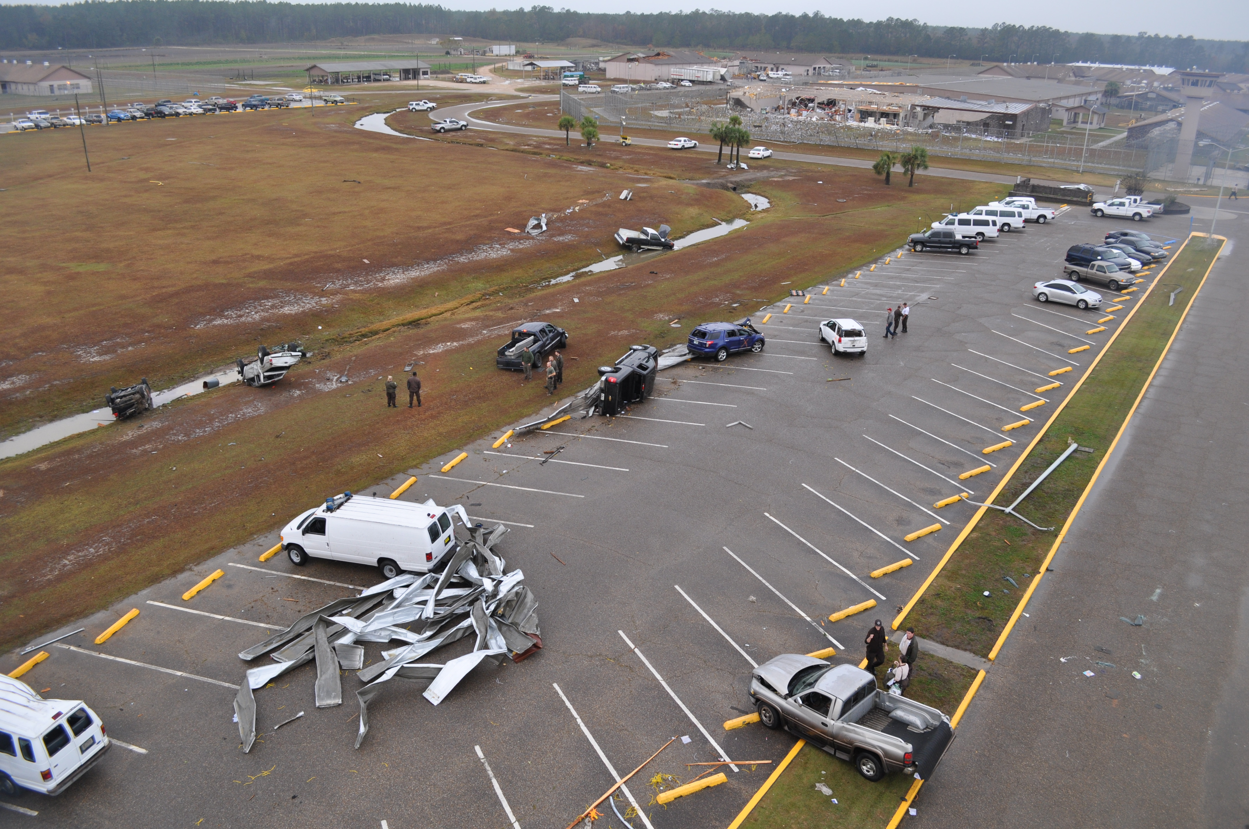 Damage to the Calhoun Correctional Institution southwest of Blountstown, FL that resulted from an EF2 tornado on November 17, 2014.