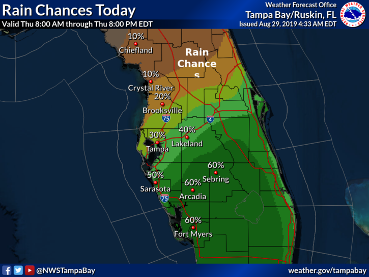 Florida Weather Forecast Outlook Short Long Extended Detailed