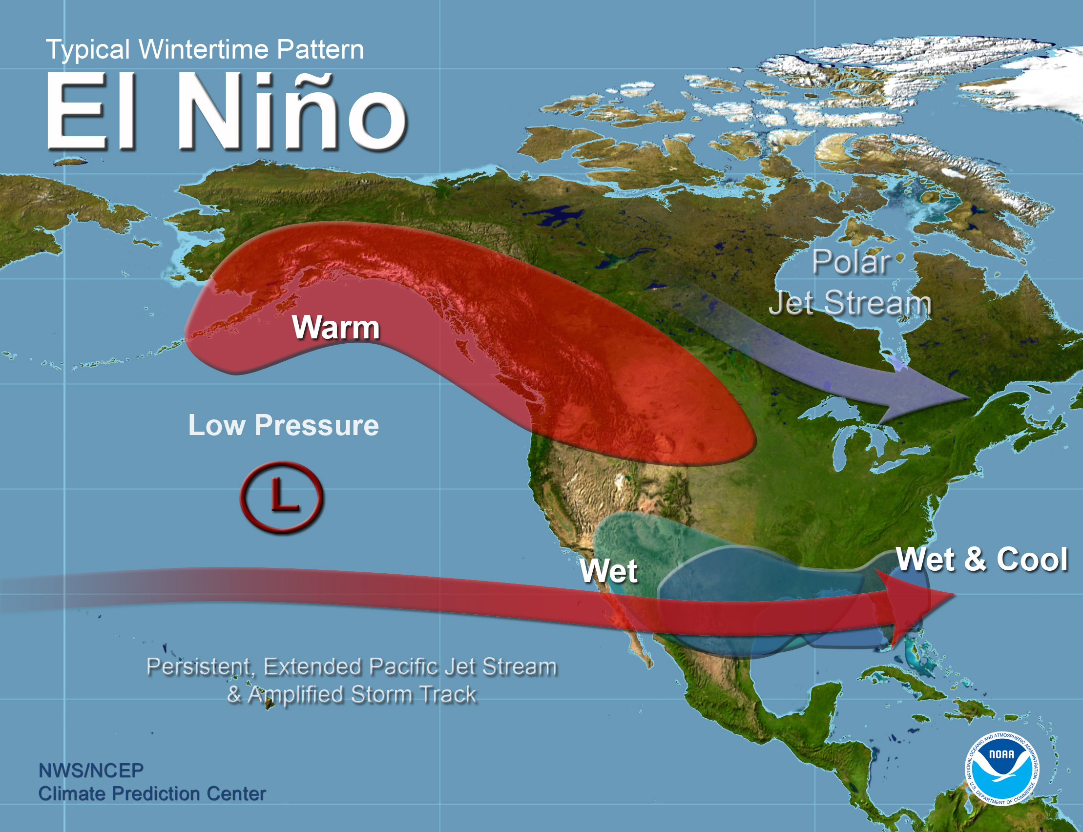 El Niño Related Winter Features Over North America