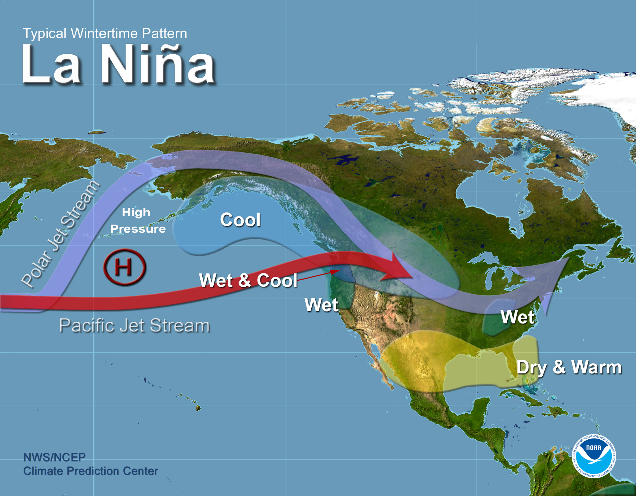 Tampa Bay El Nino Page - North america air temperature map