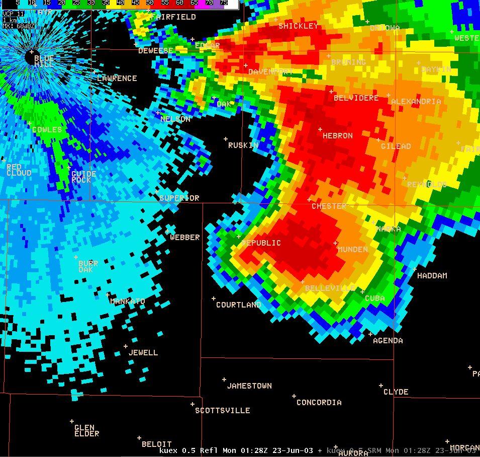 Kansas republic county agenda - Reflectivity Image Velocity Image