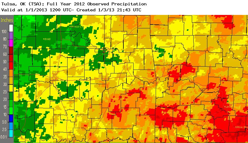 2012 rainfall total