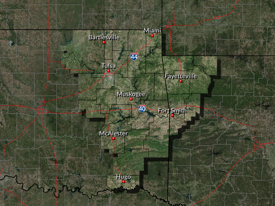 The National Weather Service in Tulsa serves in Eastern Oklahoma and Northwest Arkansas.