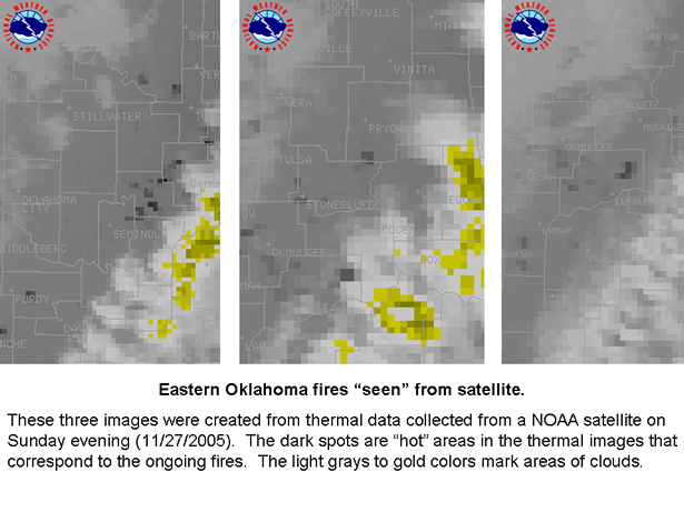 fires seen by satellite