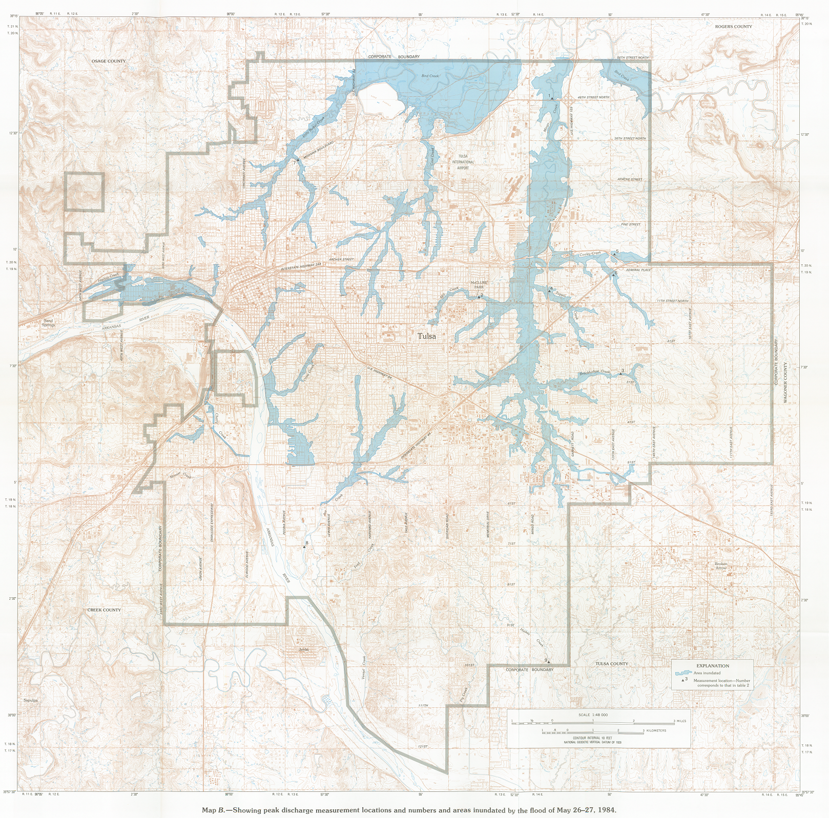 USGS inundation map