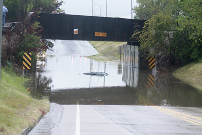 flooded underpass. image courtesy of Sequoyah Co. Times