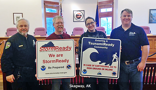 Skagway, AK, TsunamiReady ceremony