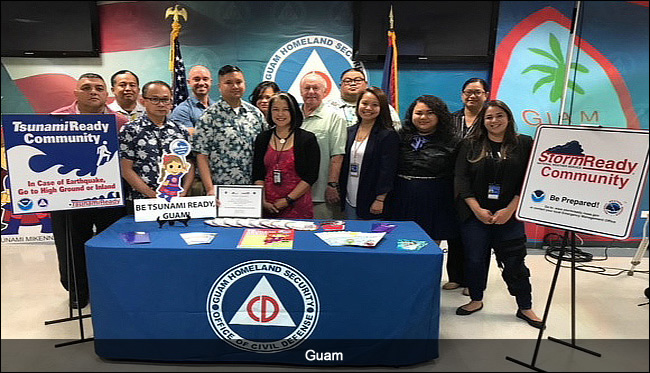 Guam, AS, TsunamiReady ceremony