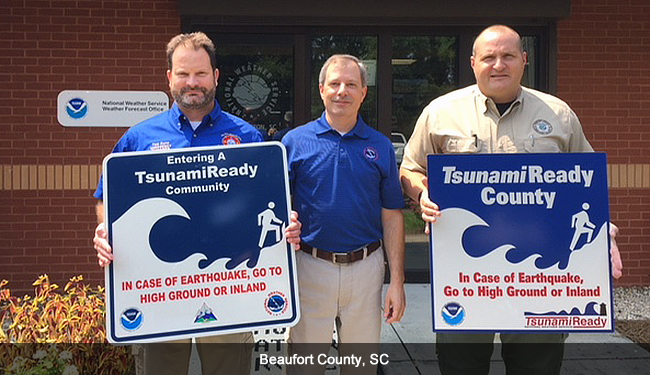 Beaufort County, SC, TsunamiReady ceremony