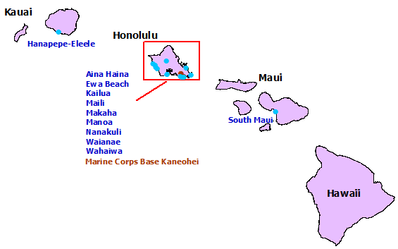 Marine Corps Base Hawaii Map.Tsunamiready In Hawaii