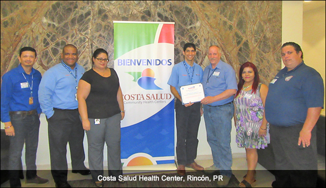 Costa Salud Health Center, Rincon, PR, TsunamiReady supporter ceremony, September 2016