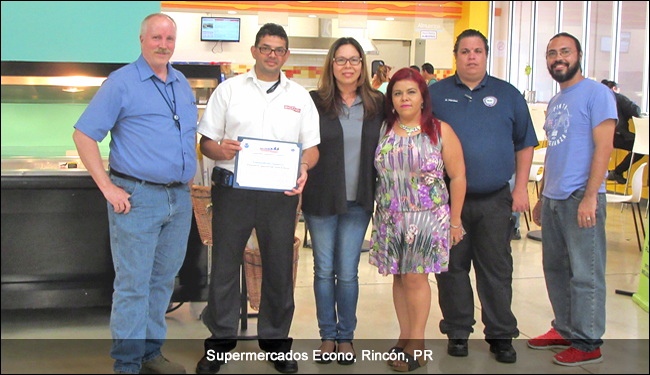 SupermercadosEcono, PR, TsunamiReady supporter ceremony, September 2016