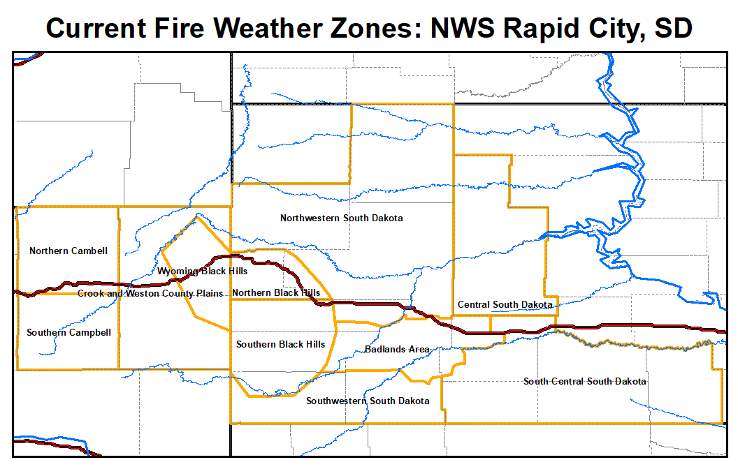 Northeastern Wy And Western Sd Fire Weather Zone Boundaries To Change October 15 2019