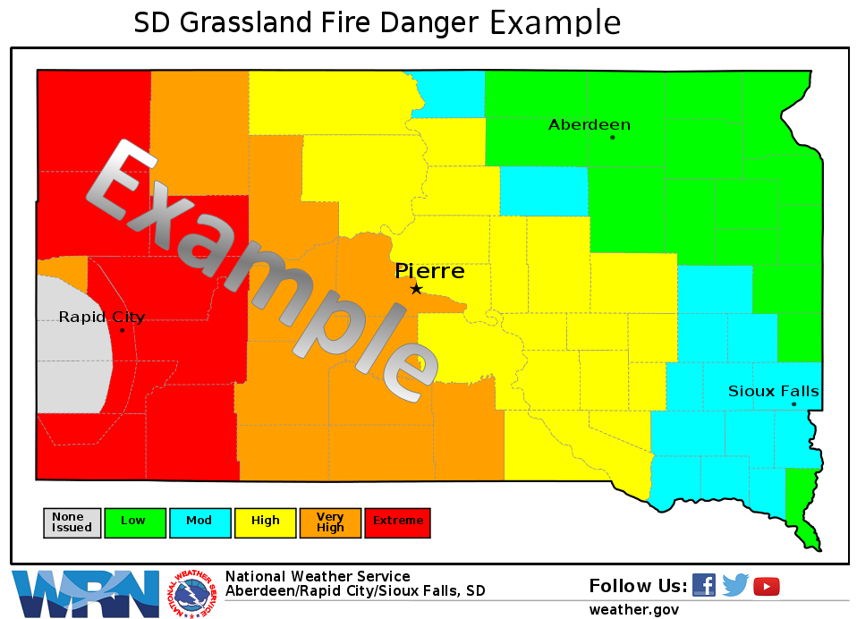 Figure 1.  Graphical example of the Grassland Fire Danger Index