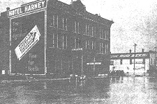 Flooding in Rapid City, June 11, 1909 (photo courtesy of the Rapid City Journal).