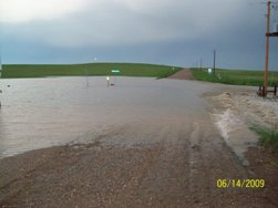 Flash Flooding in southern Meade County. June 14, 2009.
