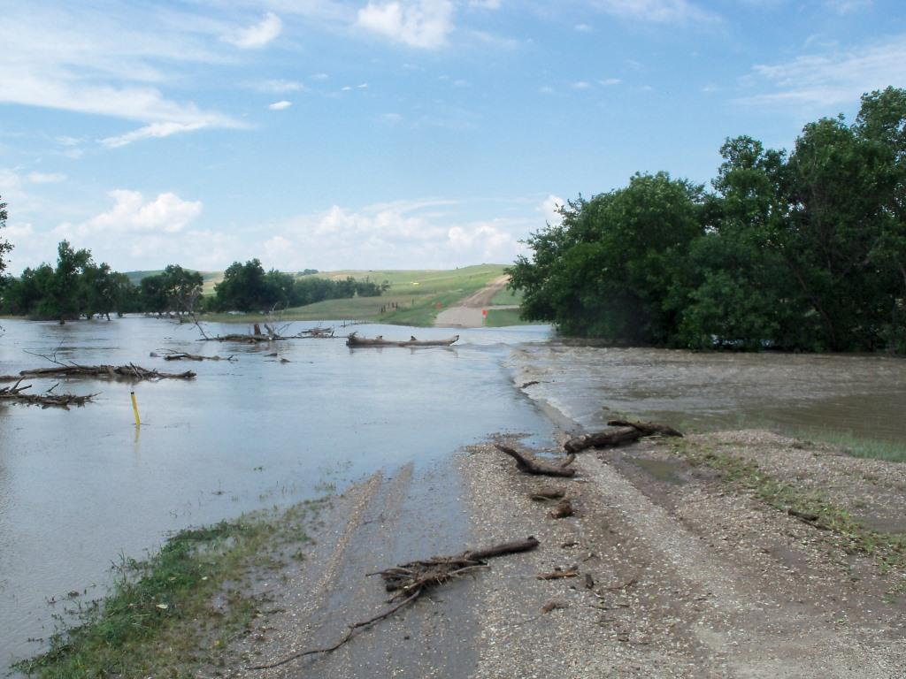 Flooding on Pahapesto Rd in Tripp County, July 15, 2013 (photo courtesy of Tripp County)