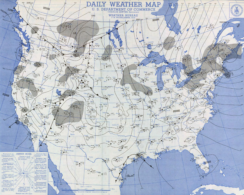 Daily Weather Map for January 2, 1949