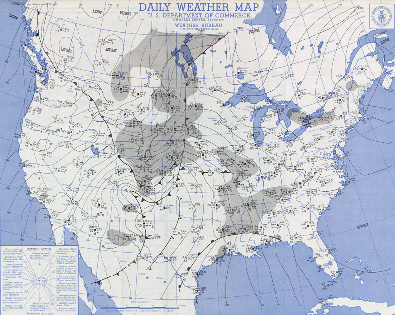 Daily Weather Maps for January 3, 1949
