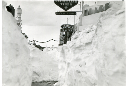 Downtown Rapid City after the blizzard. Photo by the Rapid City Journal.
