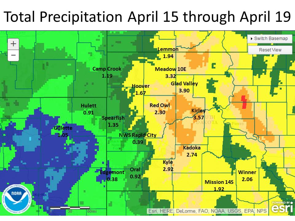 april 15 19 2016 total precipitation amounts