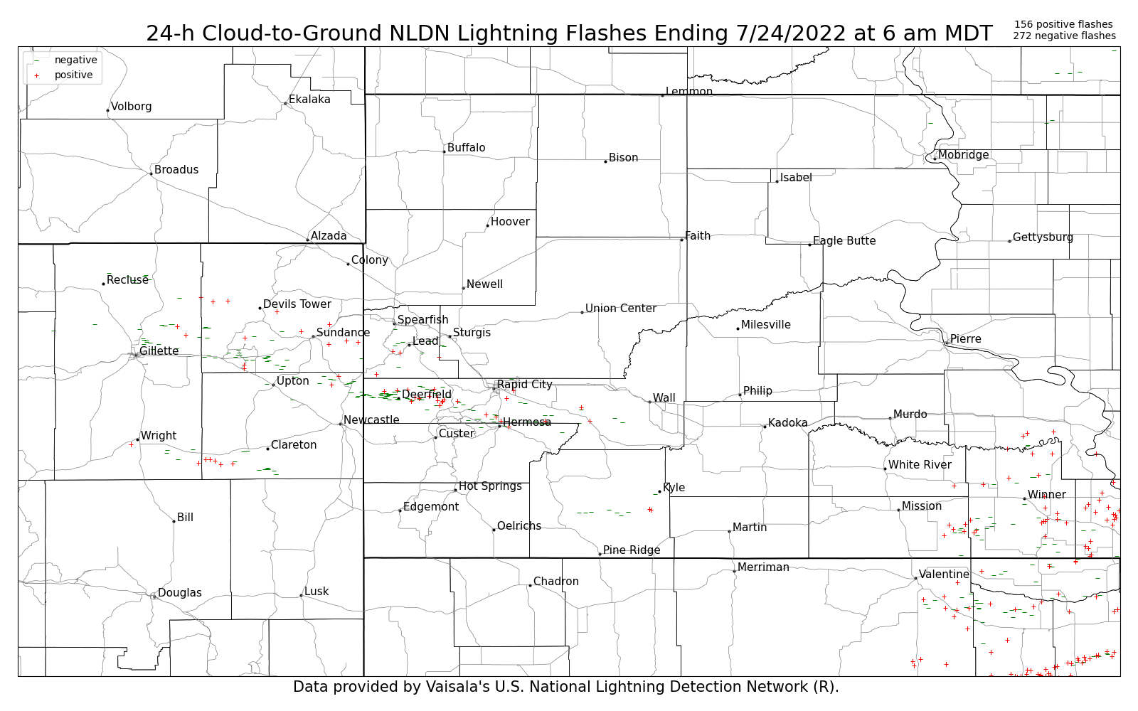 24 Hour Cumulative Lightning Strike Weekly Archive - Us-lightning-strike-map