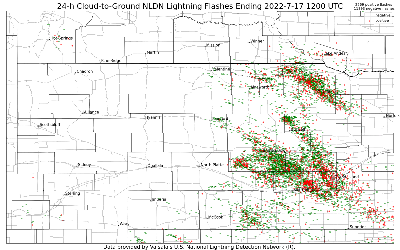 24-Hour Cumulative Lightning Strike Weekly Archive
