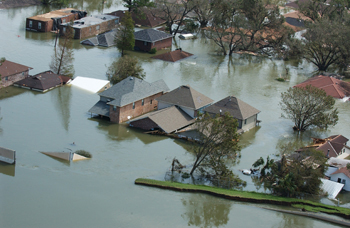 houses under water from flooding: FEMA