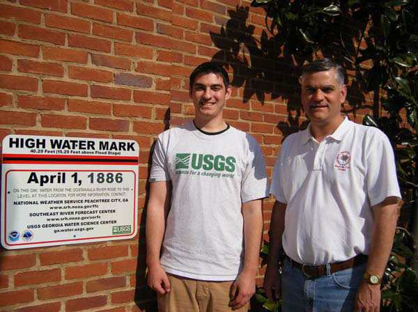 First High Water Mark Sign in Rome, GA, 2007