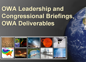 OWA Briefings to Leadership and Congress; OWA Deliverables Slide Deck