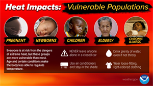 Heat Impacts on Vulnerable Populations - Actions