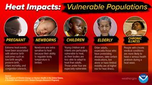 Heat Impacts on Vulnerable Populations - Descriptions