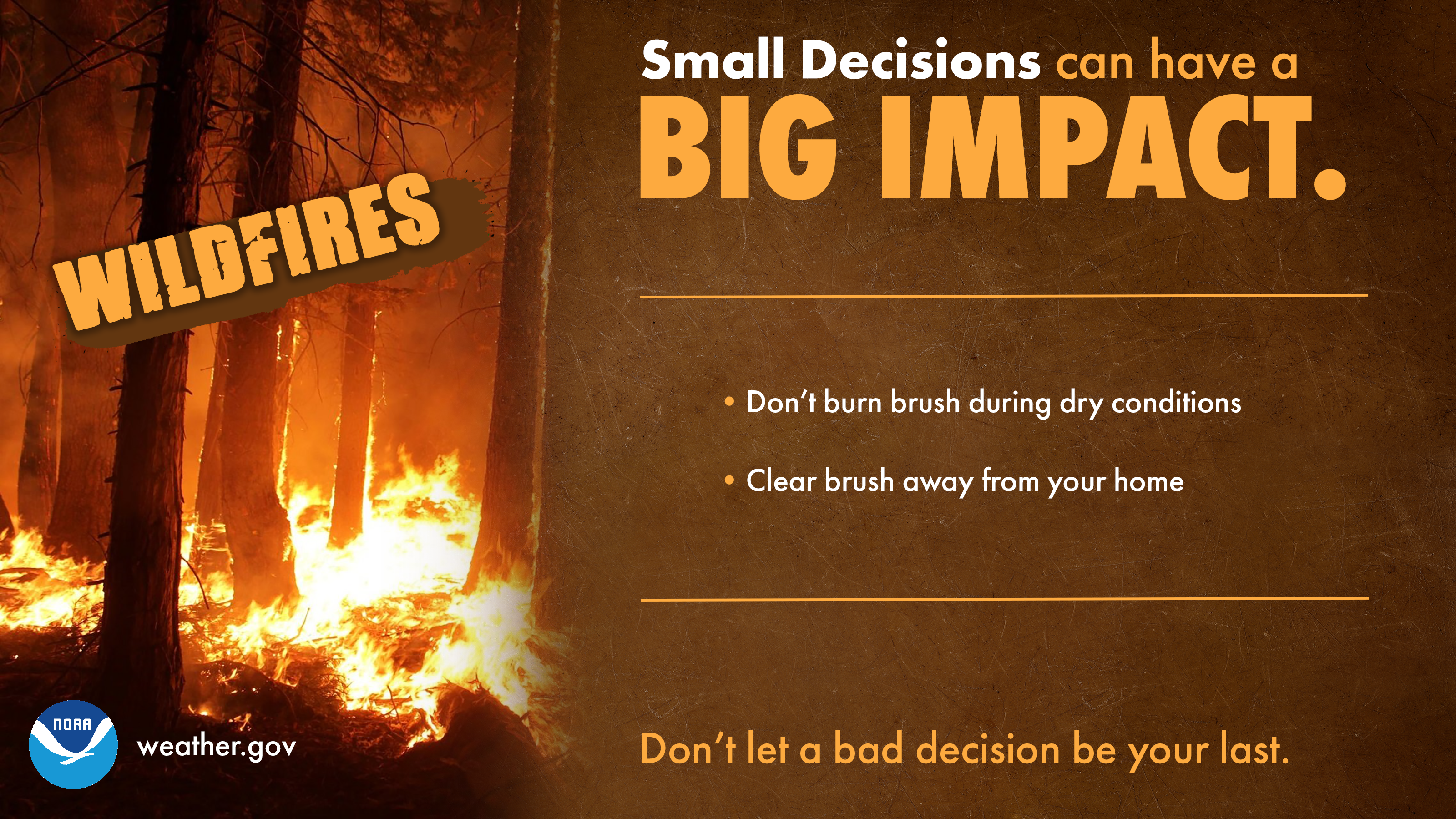 Small Decisions: Wildfires
