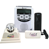 Weather radios and adaptors for Deaf and hard of hearing