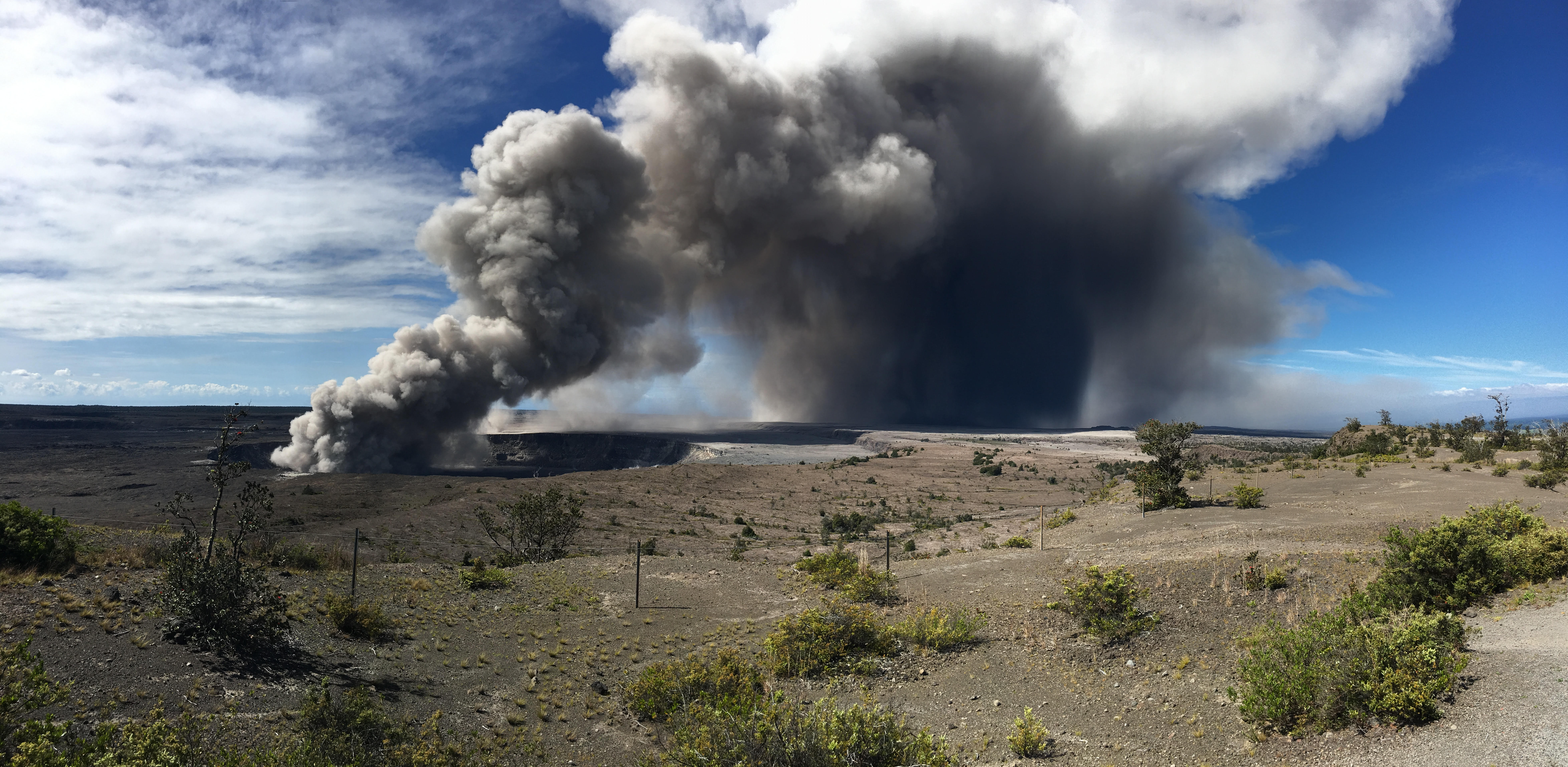 NWS issues first ash advisory ever for Hawaii after ash plumes rise from the Kilauea volcano. Hawaii, May 15, 2018.