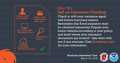Secure an insurance check-up May 9