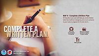 Complete your written hurricane plan May 11