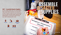 Assemble disaster supplies May 7