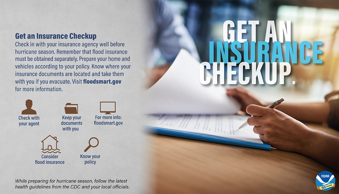 Secure an insurance check-up May 8