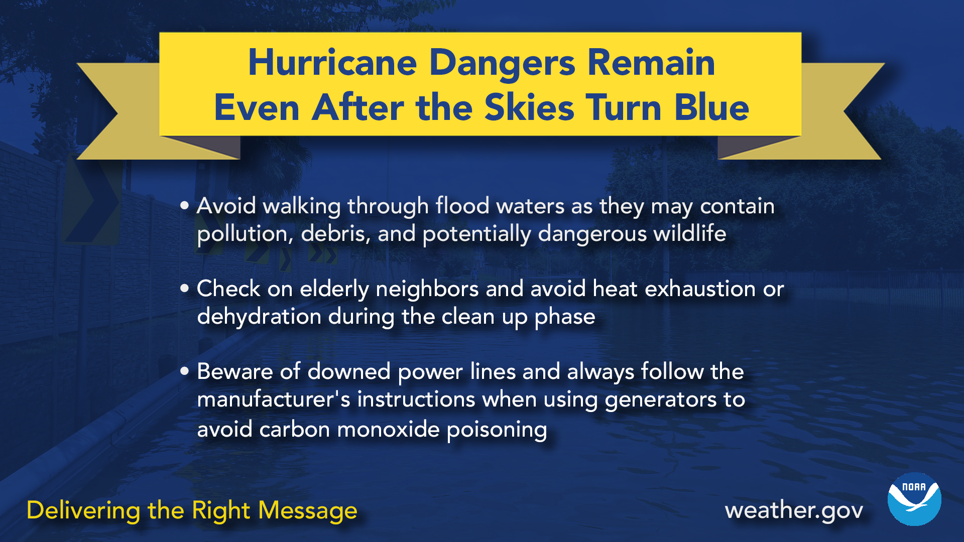 Hurricane dangers remain even after the skies turn blue
