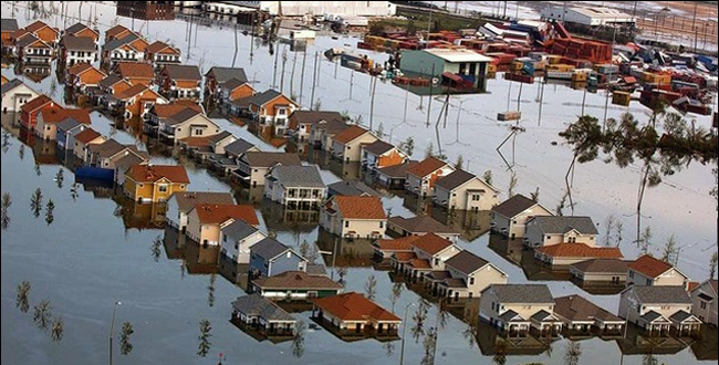 Aerial views of damage caused from Hurricane Katrina the day after the hurricane hit August 30, 2005.Photo, Jocelyn Augustino, FEMA katrinadestruction.com