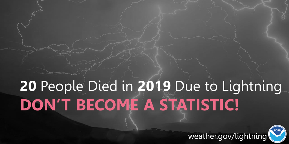 16 people died in 2017 due to lightning.  Don't become a statisitc!