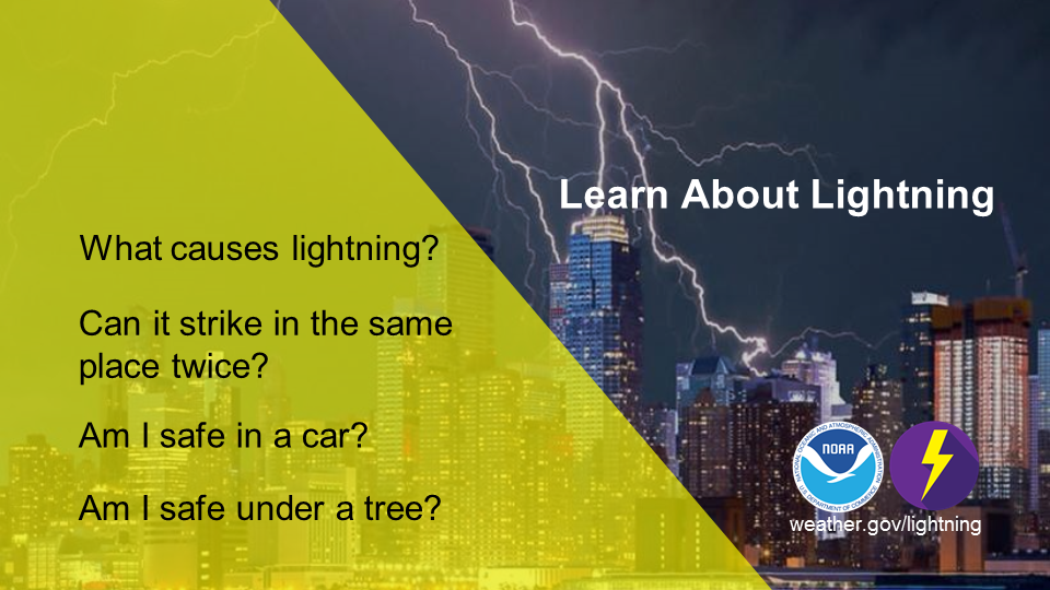 Learn About Lightning: What causes lightning? Can it strike in the same place twice? Am I safe in a car? Am I safe under a tree?