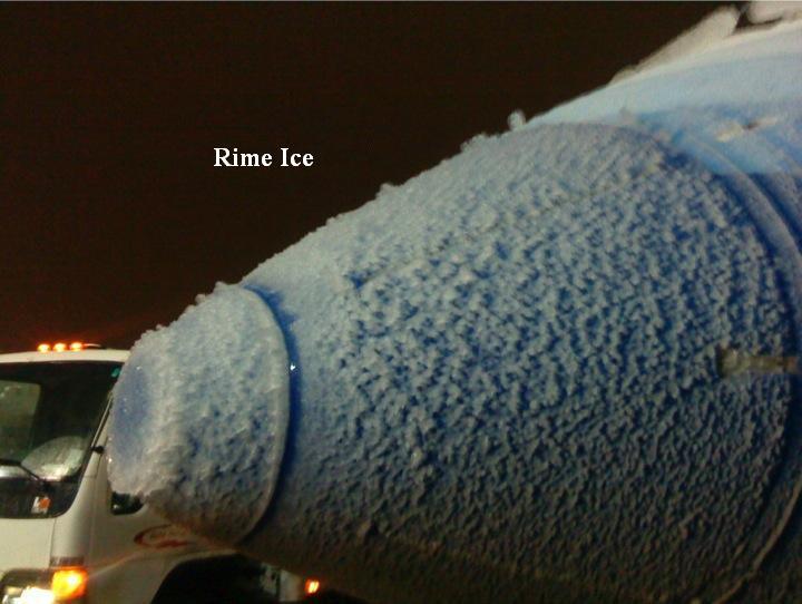 Rime Ice on Carburetor Icing