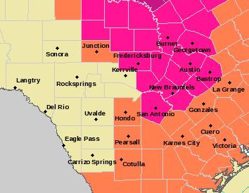 EWX Alerts Map