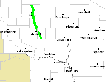 Map of Watches, Warnings, and Advisories across the area.